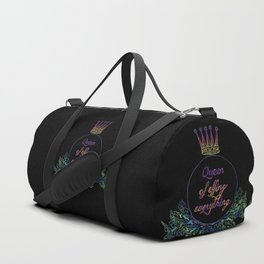 queen of effing everything Duffle Bag
