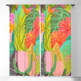 Saturated Tropical Plants and Flowers Blackout Curtain