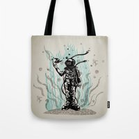 diver Tote Bags featuring DIVER by taniavisual