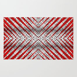 Breeze Red - Optical Series 010 Rug