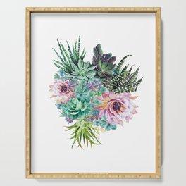 Succulent Bouquet Serving Tray