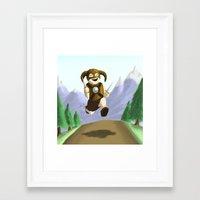 skyrim Framed Art Prints featuring Skyrim.. wheeee! by Fancy Panda Studios