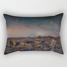 Exploring the Bisti Badlands of New Mexico Rectangular Pillow