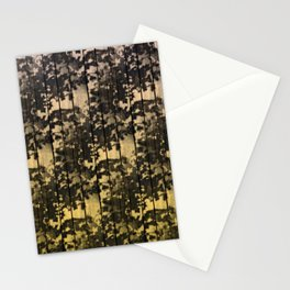 Leaf Shadows on Deck - nude2yellow Stationery Cards