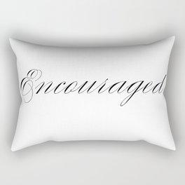 Encouraged Rectangular Pillow