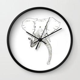 Conjoined Elephant Wall Clock