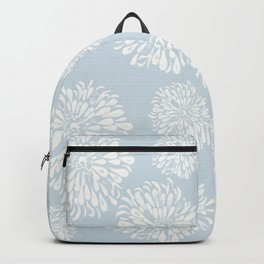Sleepy Blue Zinnias Backpack