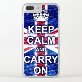 Keep Calm and Carry On Pastel Sketch Clear iPhone Case