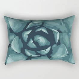 Vibrant Green Succulent Rectangular Pillow