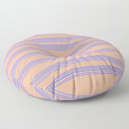 Blue lines Floor Pillow