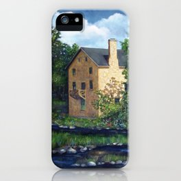 Old Stone Grist Mill, Acrylic Painting iPhone Case