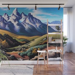 American Masterpiece 'The Sheep Herder' by Thomas Hart Benton Wall Mural