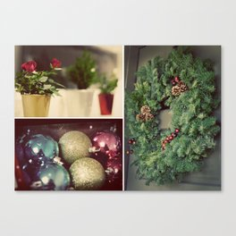 Christmas Things Collage Canvas Print