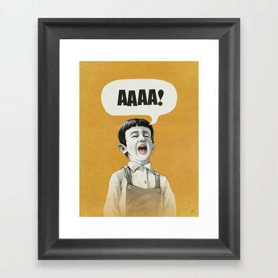 AAAA! (Golden) Framed Art Print