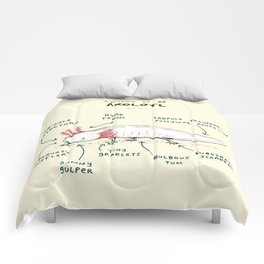 Anatomy of an Axolotl Comforters