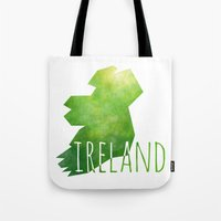 ireland Tote Bags featuring Ireland by Stephanie Wittenburg