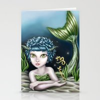 capricorn Stationery Cards featuring Capricorn by Paula Ellenberger