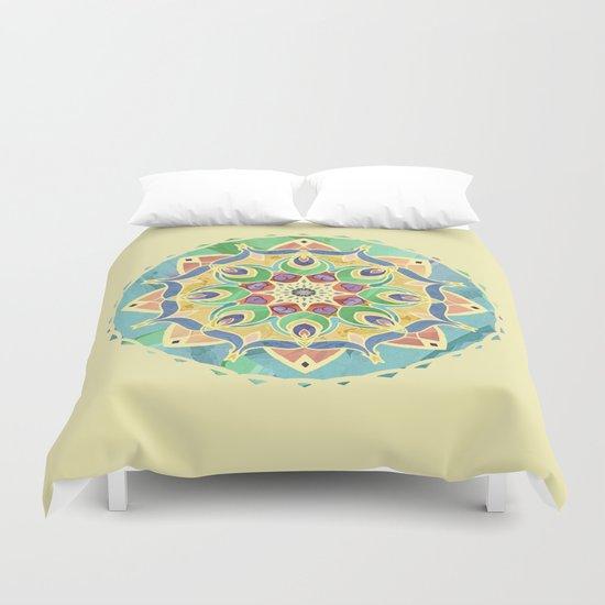 Sand and Silk Mandala 2 Duvet Cover