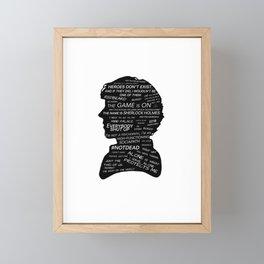 Sherlock Holmes - BBC tv show sherlock  Framed Mini Art Print