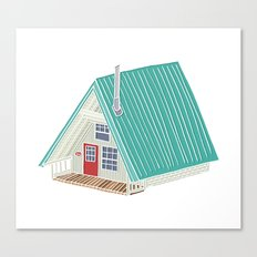 Little A Frame Cabin Canvas Print