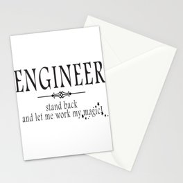 Engineer - Stand back! Stationery Cards