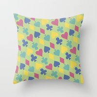 suits Throw Pillows featuring Suits by M. Noelle Studios
