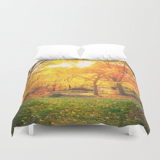 New York City - Autumn Sunset Duvet Cover