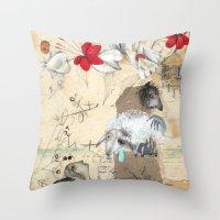 fairytale Throw Pillows featuring FairyTale by Natalie Pudalov
