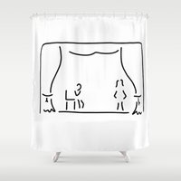 actor Shower Curtains featuring actor theatre stage by Lineamentum