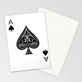 Ace of Spades Stationery Cards