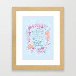 Amazing Grace - Hymn Framed Art Print