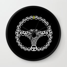 Steering Wheel Wall Clock