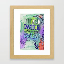 Watch the Waves Framed Art Print