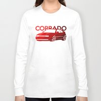 volkswagen Long Sleeve T-shirts featuring Volkswagen Corrado - classic red - by Vehicle