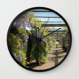 Wisteria Tunnel Wall Clock