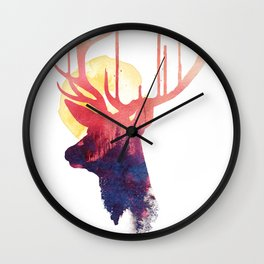 The burning sun Wall Clock
