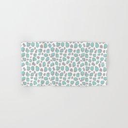 Leopard Animal Print Aqua Blue Gray Grey Spots Hand & Bath Towel