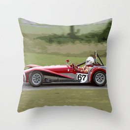 Vintage Racer Throw Pillow