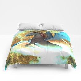 Dark unicorn  Comforters