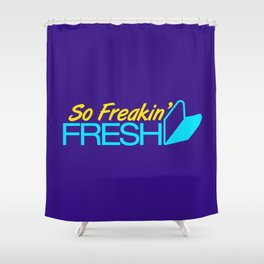 So Freakin' Fresh v3 HQvector Shower Curtain