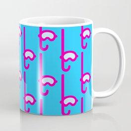 Pink Snorkel - Diver Pattern Coffee Mug