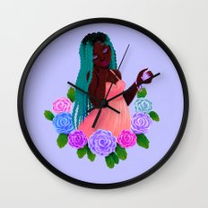 Turquoise Twists Wall Clock
