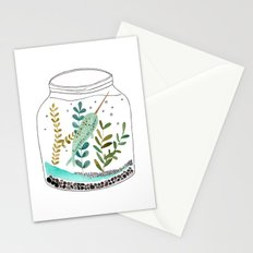 Narwhal in a jar Stationery Cards