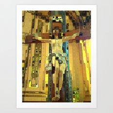 Abstract Jesus Art Print