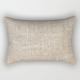 Len Sack Fabric Texture Rectangular Pillow
