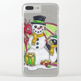 Penguin & Dragon Clear iPhone Case