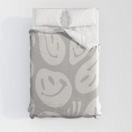 Liquify Cool Grey Duvet Cover