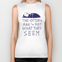 otters Biker Tanks featuring You Otter Know by MidnightCoffee
