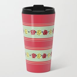 A Rosey Outlook Red Travel Mug