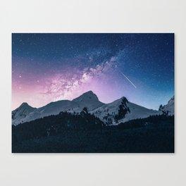 Mountains & Milky Way Canvas Print